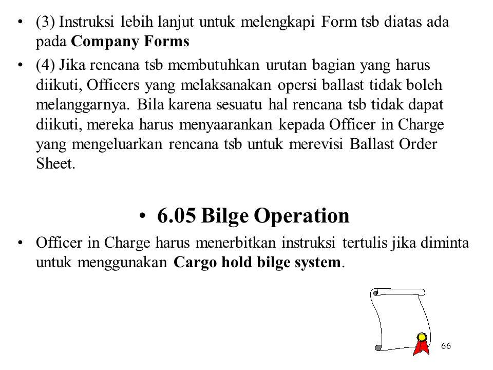 66 (3) Instruksi lebih lanjut untuk melengkapi Form tsb diatas ada pada Company Forms (4) Jika rencana tsb membutuhkan urutan bagian yang harus diikut