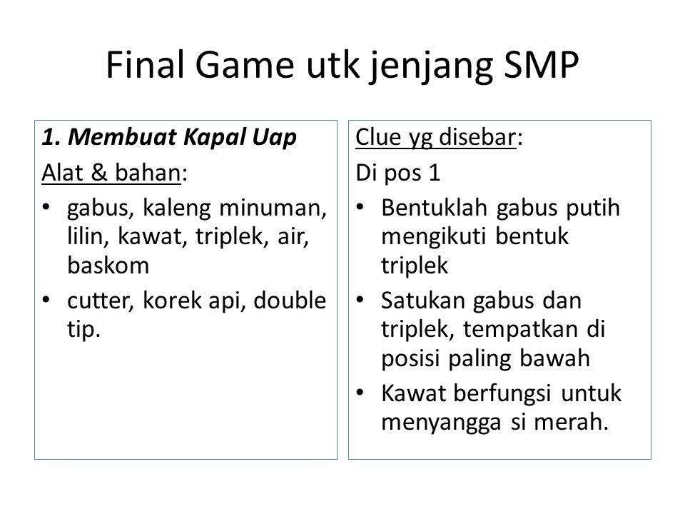 Final Game utk jenjang SMP 1.