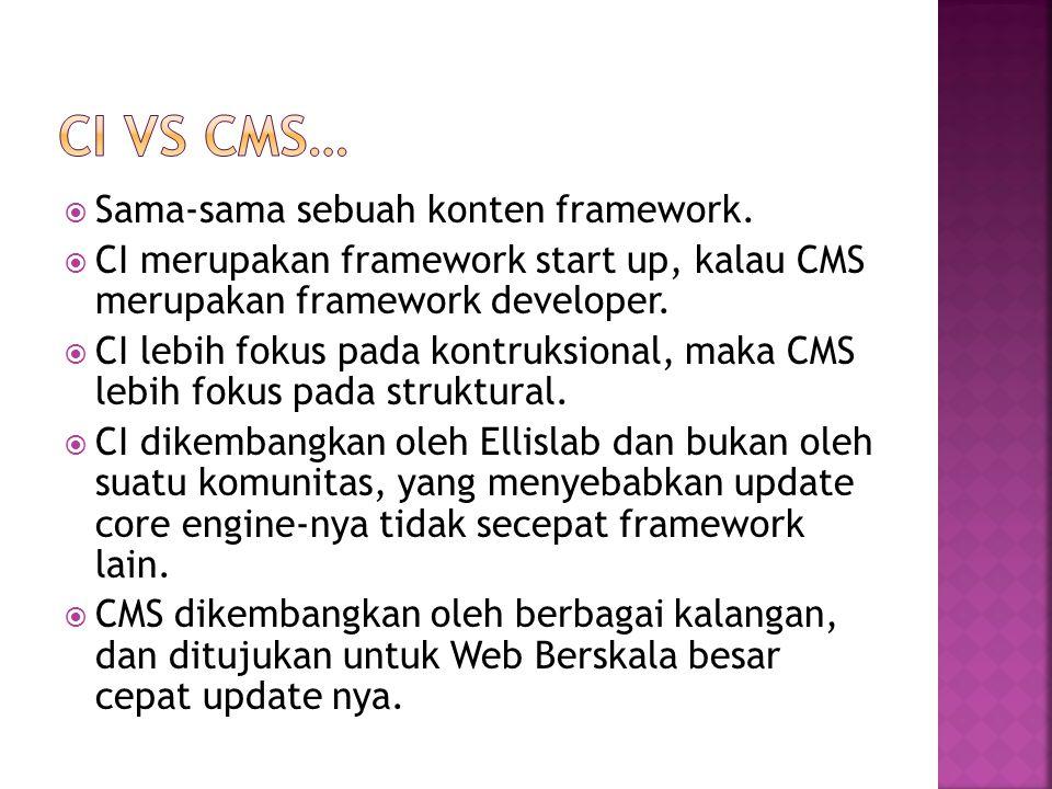  Sama-sama sebuah konten framework.