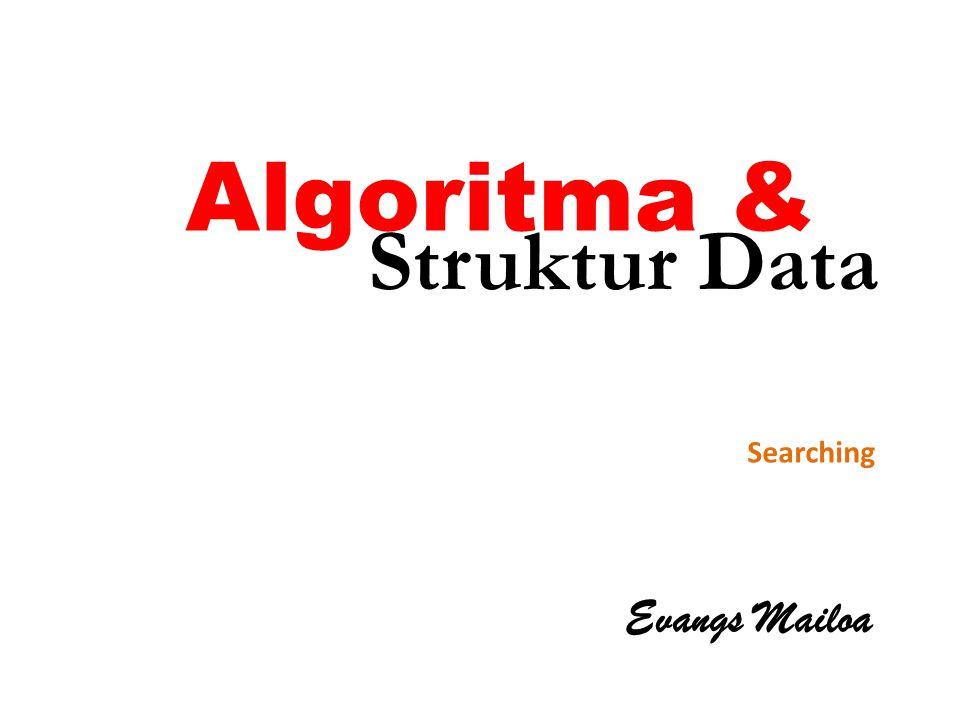Algoritma & Evangs Mailoa Searching Struktur Data