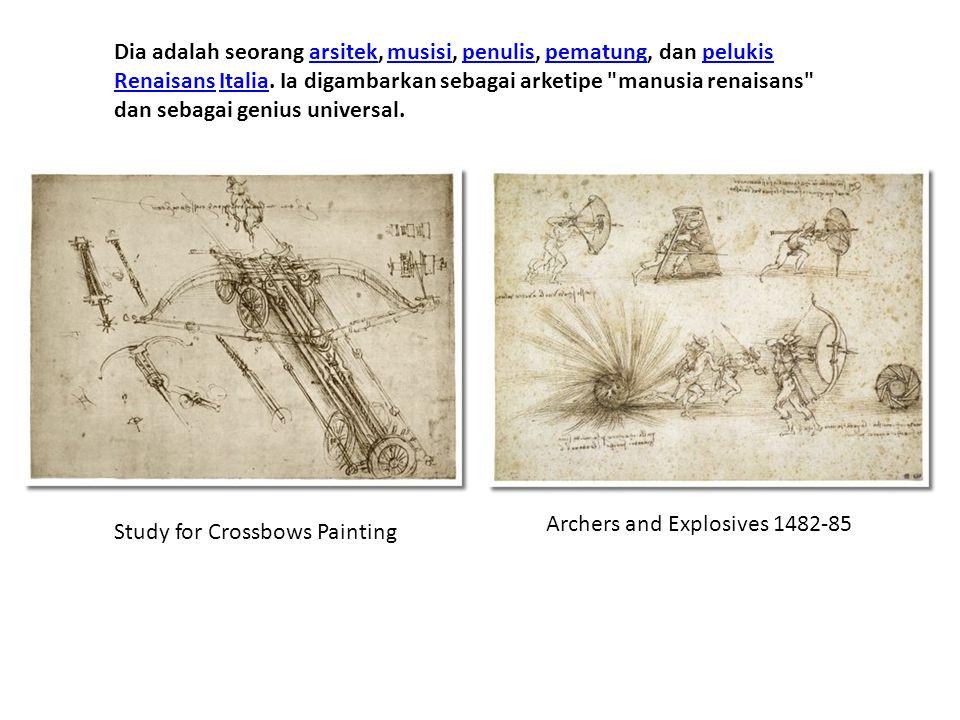 Dia adalah seorang arsitek, musisi, penulis, pematung, dan pelukis Renaisans Italia. Ia digambarkan sebagai arketipe