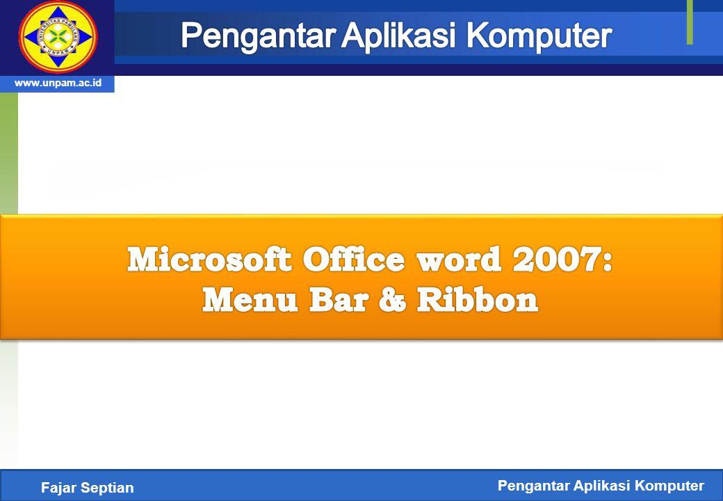 Mengenal Ms.Word 2007  Microsoft Word (MS Word) merupakan program untuk mengolah kata.