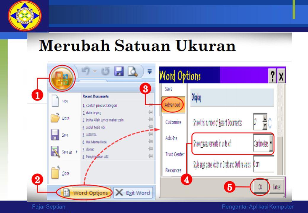 Pengantar Aplikasi KomputerFajar Septian
