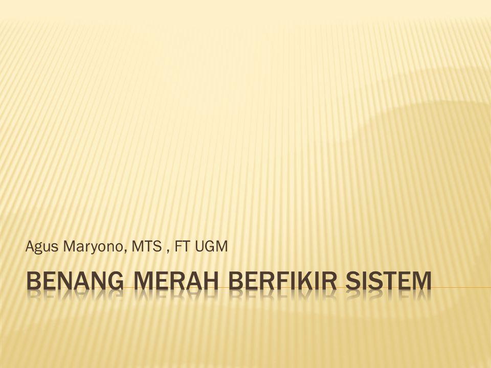 Agus Maryono, MTS, FT UGM