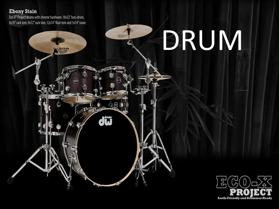 Cowbell dan Woodblock Cowbell lazim digunakan dalam drumset.