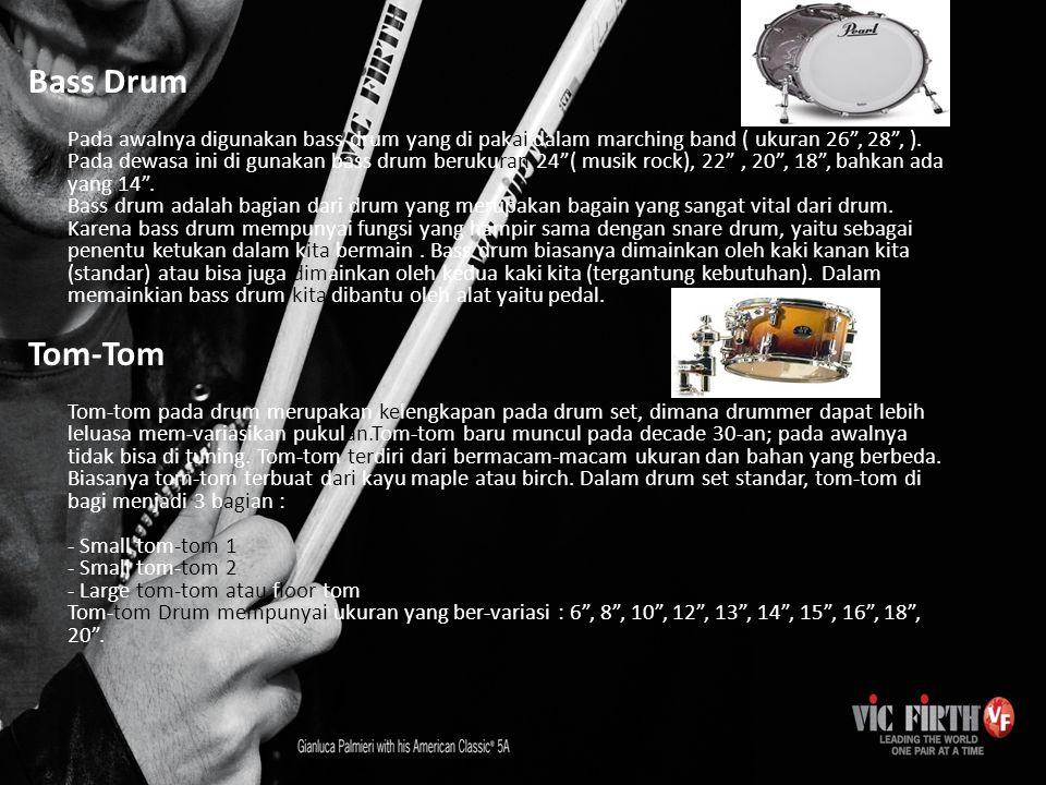 Cymbal Hi-Hat Cymbal Hi-hat merupakan 2 lempengan cymbal yang di gabungkan menjadi satu bagian.