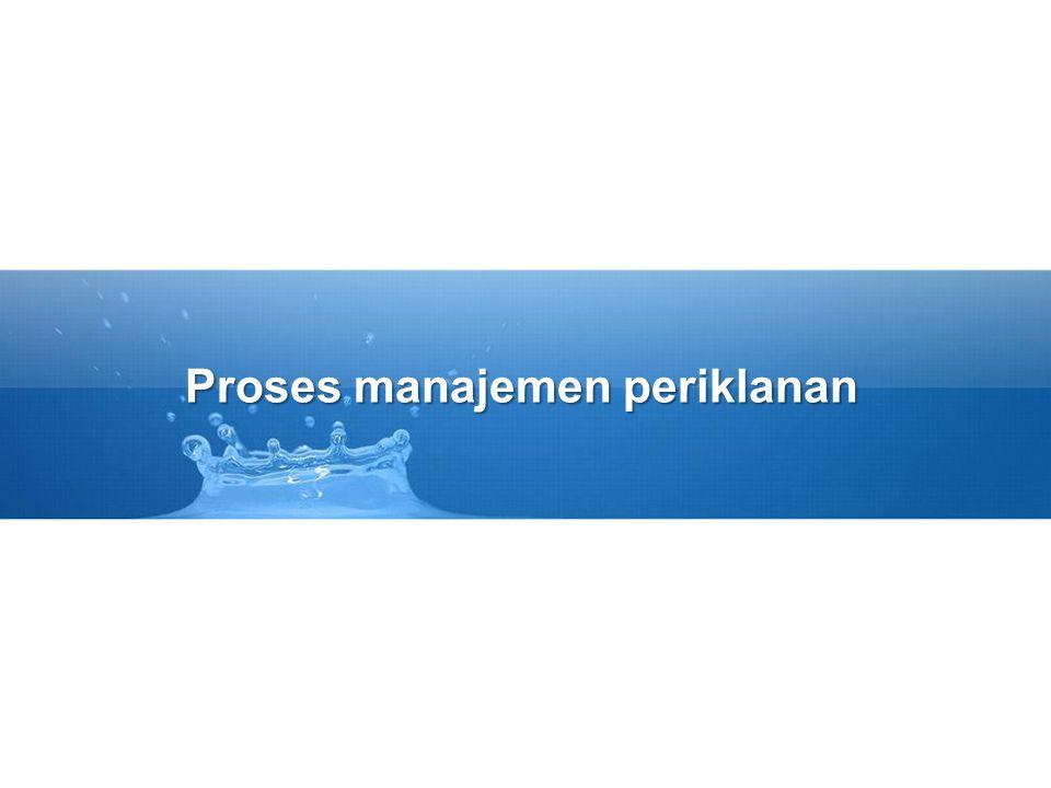 Proses manajemen periklanan