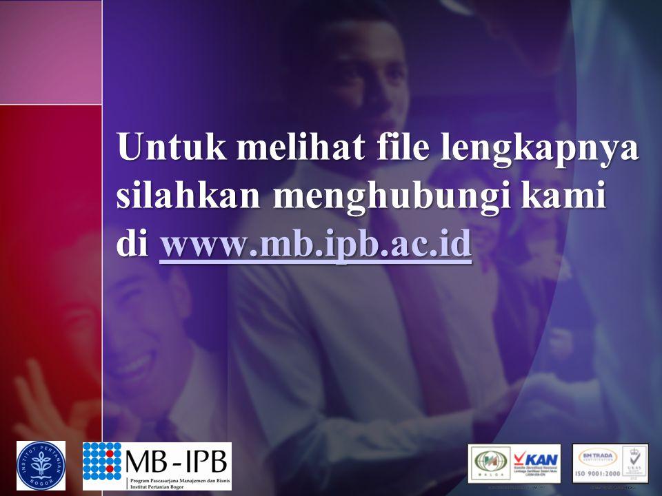 Untuk melihat file lengkapnya silahkan menghubungi kami di www.mb.ipb.ac.id www.mb.ipb.ac.id