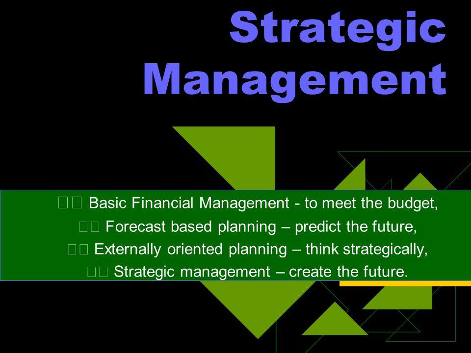 The Nature and Value of Strategic Management ( Hakekat dan Manfaat Manajemen Strategik )