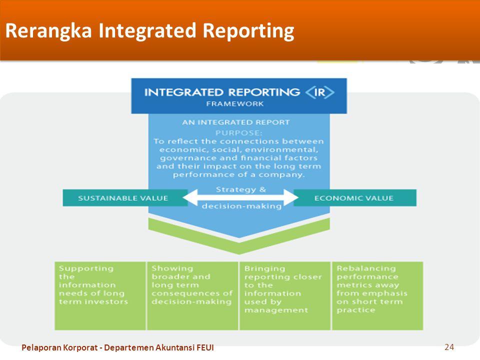 Rerangka Integrated Reporting 24 Pelaporan Korporat - Departemen Akuntansi FEUI