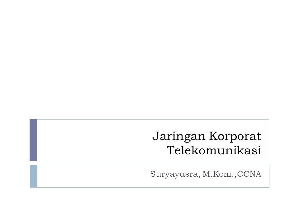 Jaringan Korporat Telekomunikasi Suryayusra, M.Kom.,CCNA