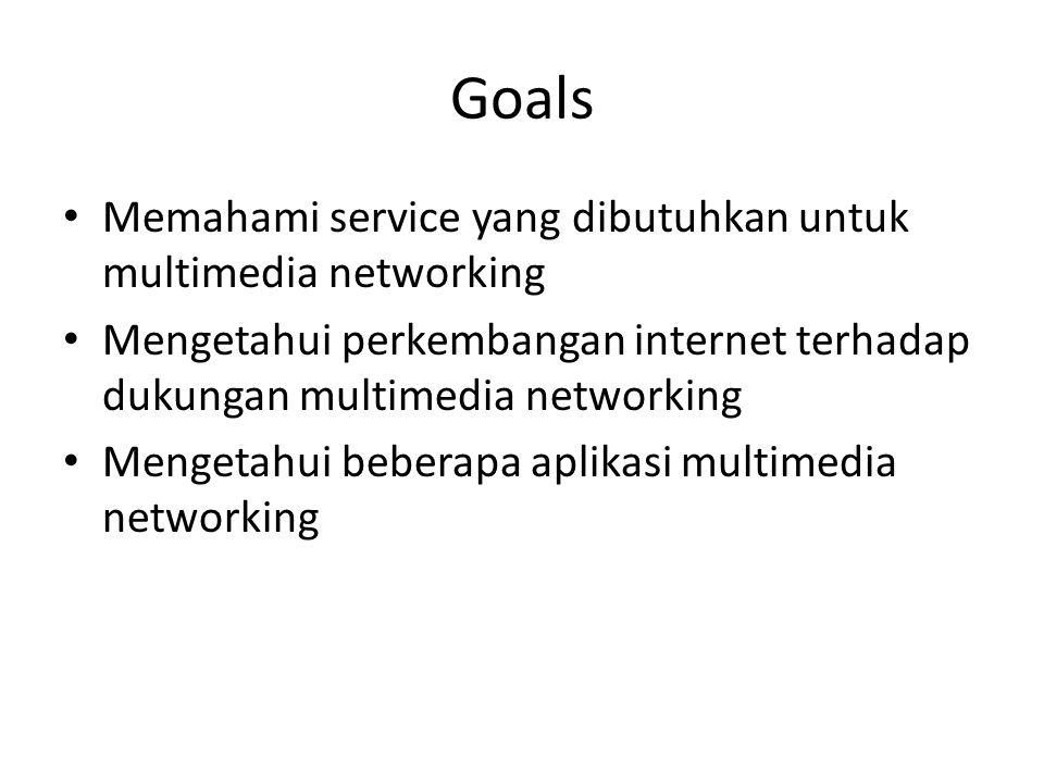 Fundamental Definisi Multimedia Networking Multimedia + Networking