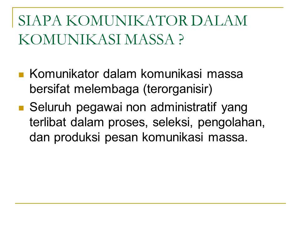 Media Massa Sebagai Intitusi Memiliki aktifitas pokok, memproduksi dan mendistribusikan informasi.