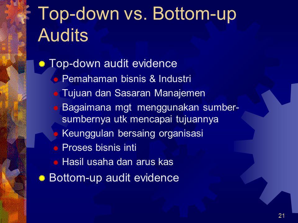 21 Top-down vs.