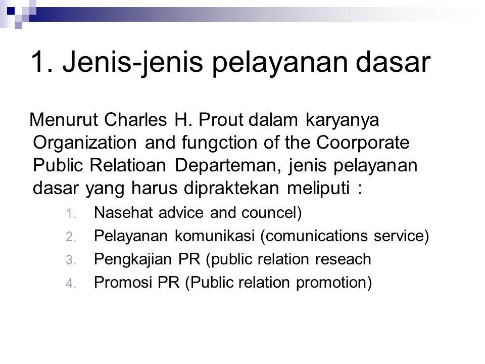 1.Jenis-jenis pelayanan dasar Menurut Charles H.