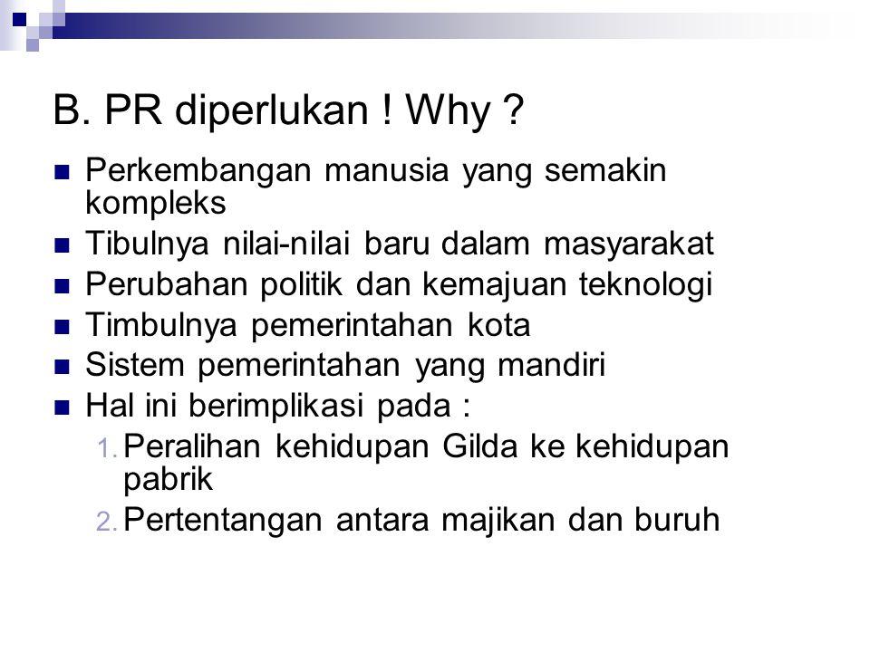 B.PR diperlukan . Why .