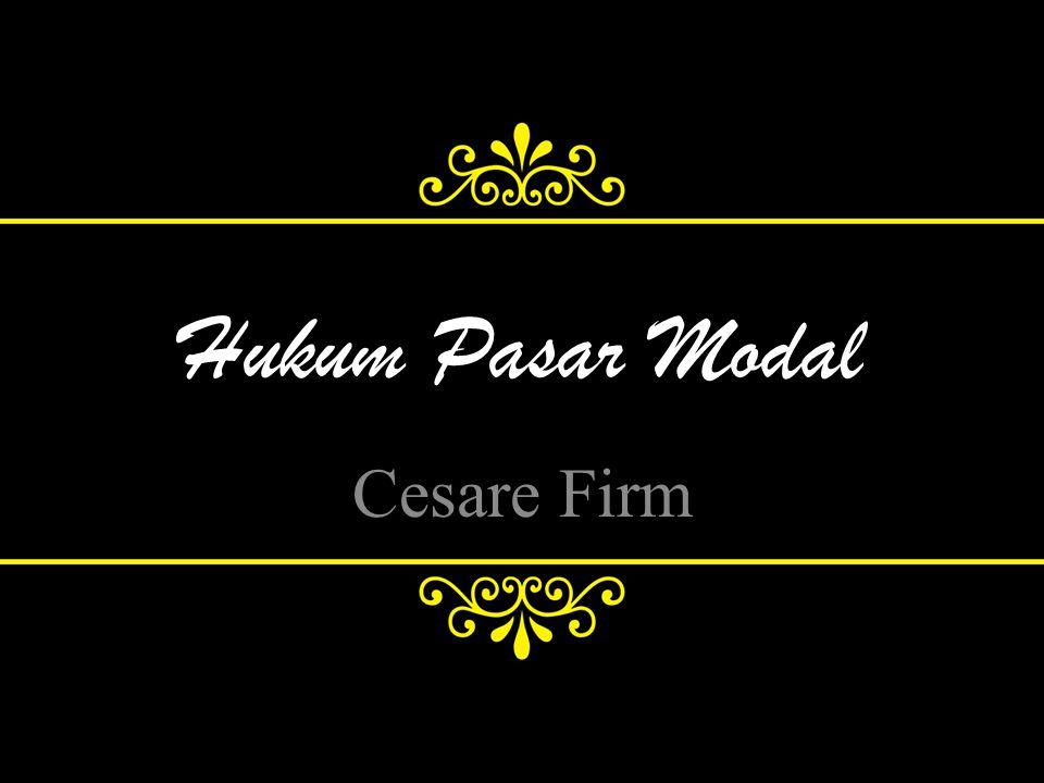 Hukum Pasar Modal Cesare Firm