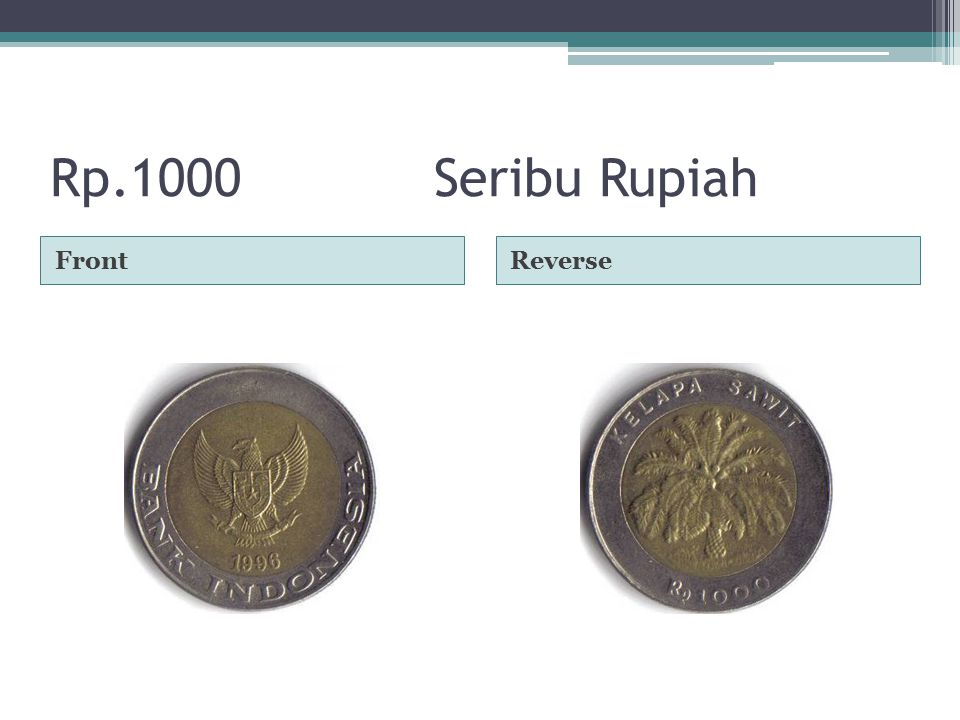 Rp.1000Seribu Rupiah FrontReverse