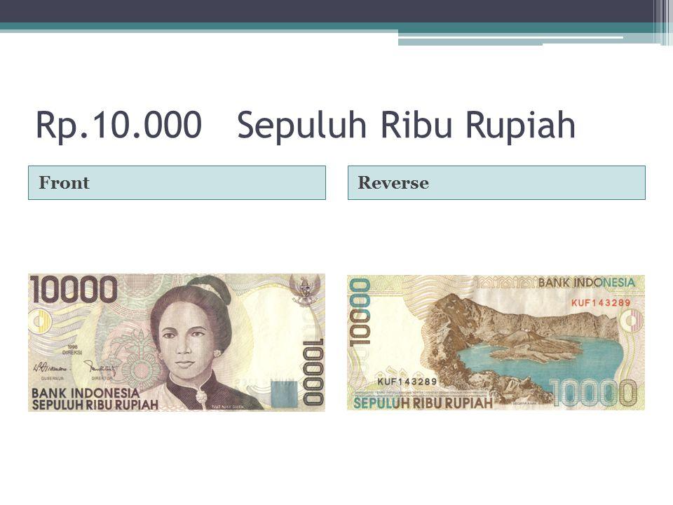 Rp.10.000Sepuluh Ribu Rupiah FrontReverse