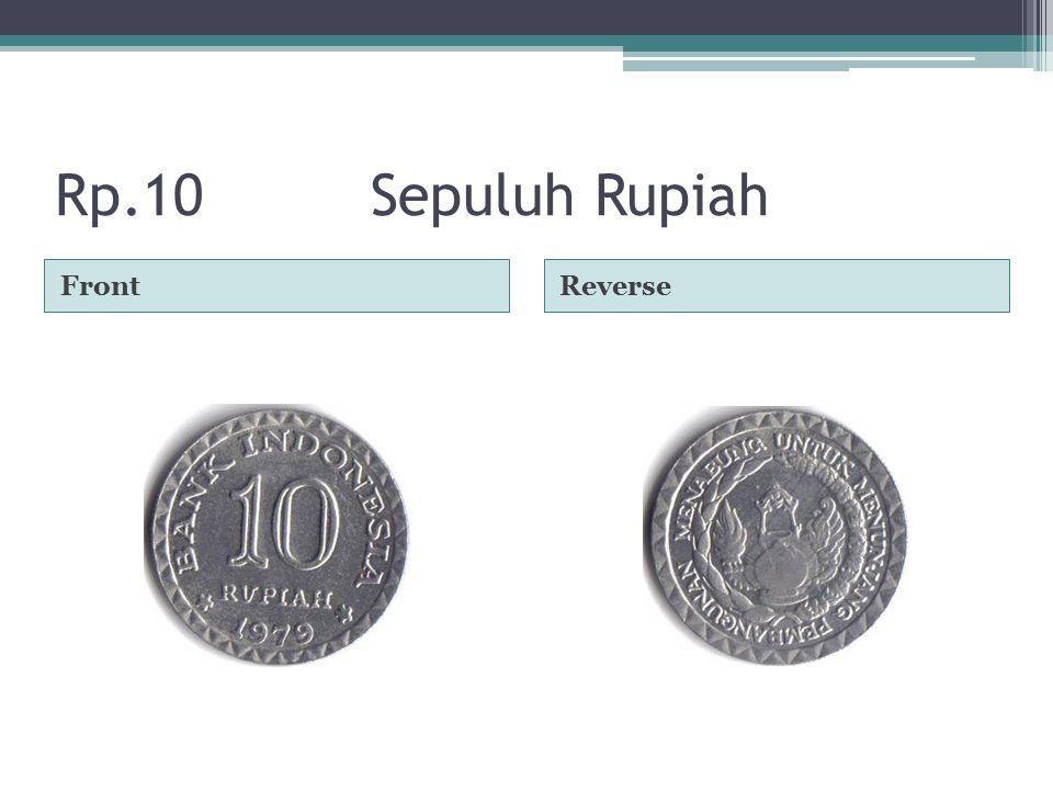 Rp.10Sepuluh Rupiah FrontReverse