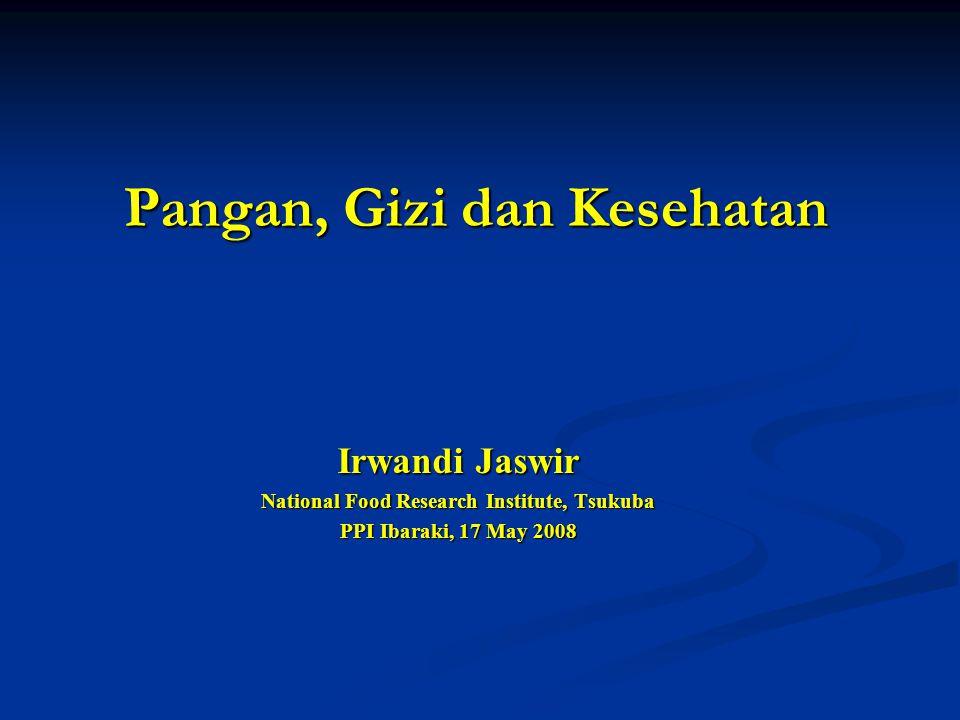 Pangan, Gizi dan Kesehatan Irwandi Jaswir National Food Research Institute, Tsukuba PPI Ibaraki, 17 May 2008