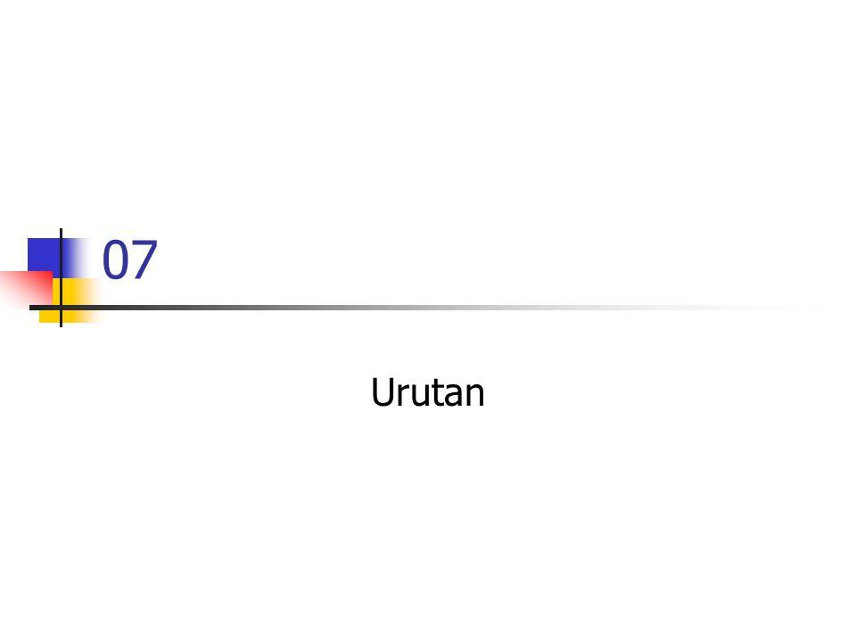 07 Urutan