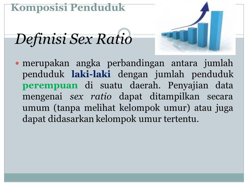 Komposisi Penduduk merupakan angka perbandingan antara jumlah penduduk laki-laki dengan jumlah penduduk perempuan di suatu daerah. Penyajian data meng