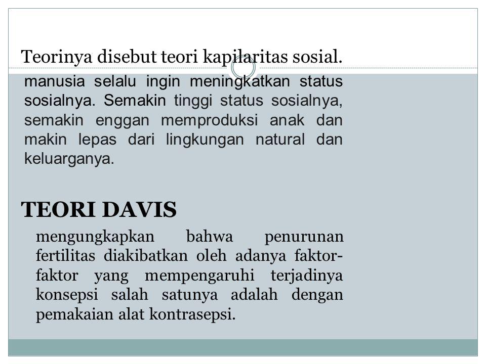 TEORI ARSENE DUMONT Teorinya disebut teori kapilaritas sosial. manusia selalu ingin meningkatkan status sosialnya. Semakin tinggi status sosialnya, se