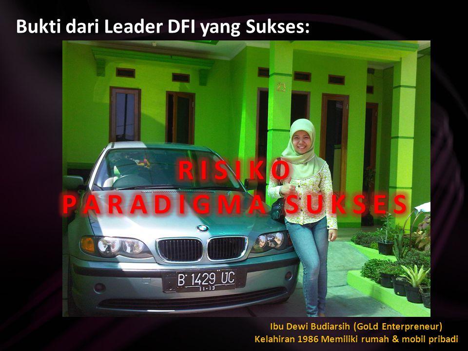 Bukti dari Leader DFI yang Sukses: Bp Satriyo DBS24414 Password: ilikeblue