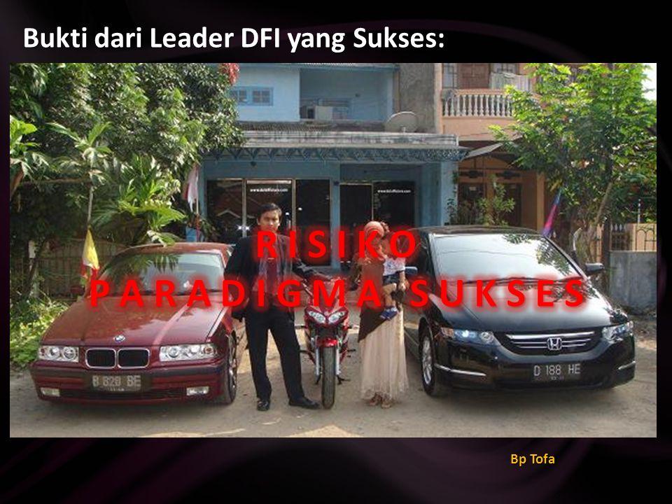 Bukti dari Leader DFI yang Sukses: Ibu Dewi Budiarsih (GoLd Enterpreneur) Kelahiran 1986 Memiliki rumah & mobil pribadi
