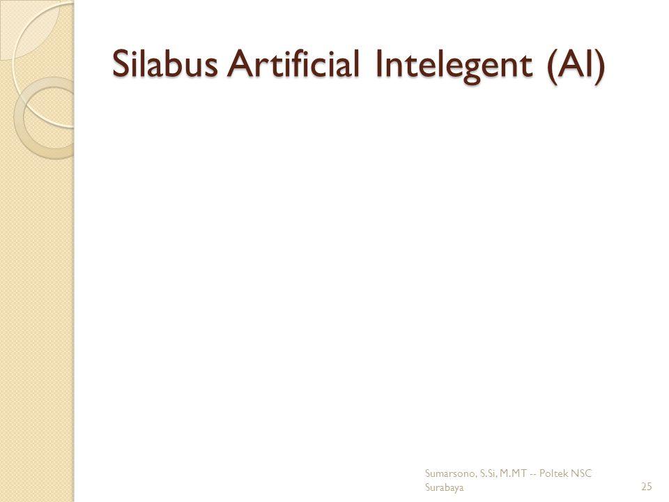 Silabus Artificial Intelegent (AI) Sumarsono, S.Si, M.MT -- Poltek NSC Surabaya25