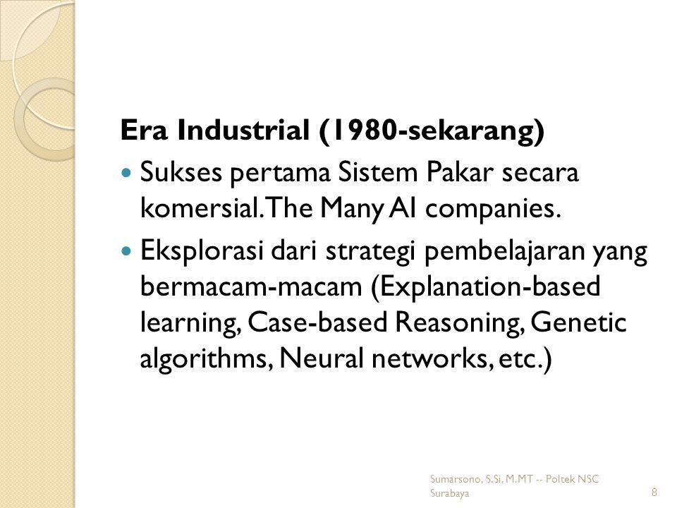 Kembalinya neural networks (1986- sekarang) Penggalian kembali algoritma learning back propagation untuk neural networks yang pertama dikenalkan dalam tahun 1969 oleh Bryson and Ho.