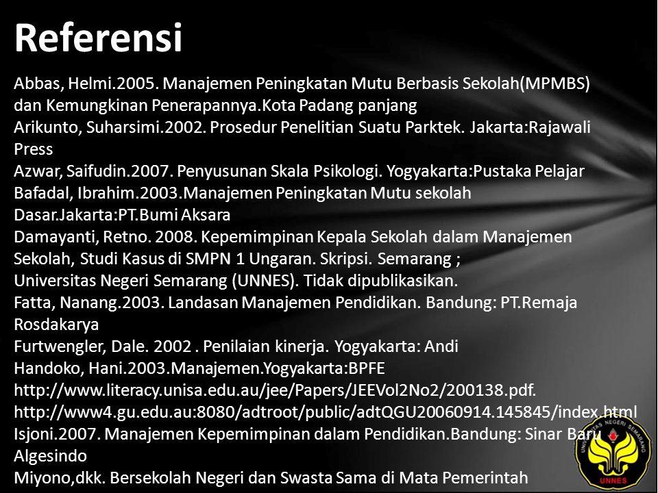 Referensi Abbas, Helmi.2005.