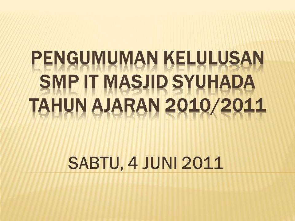 SABTU, 4 JUNI 2011
