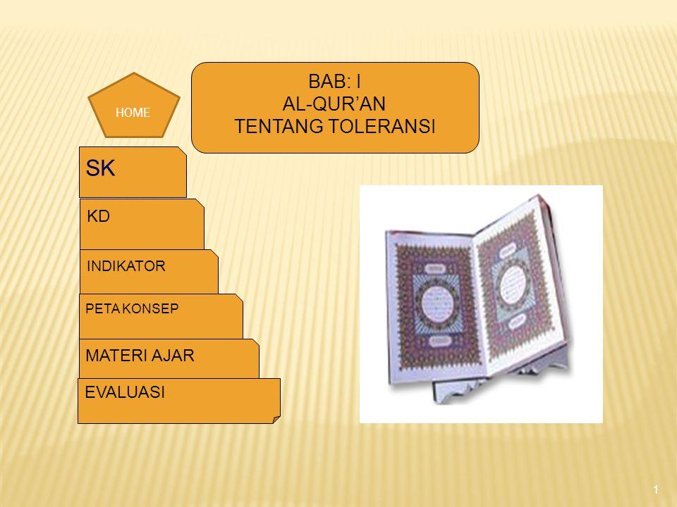 Memahami ayat-ayat al-Qur'an tentang anjuran bertoleransi. BACK
