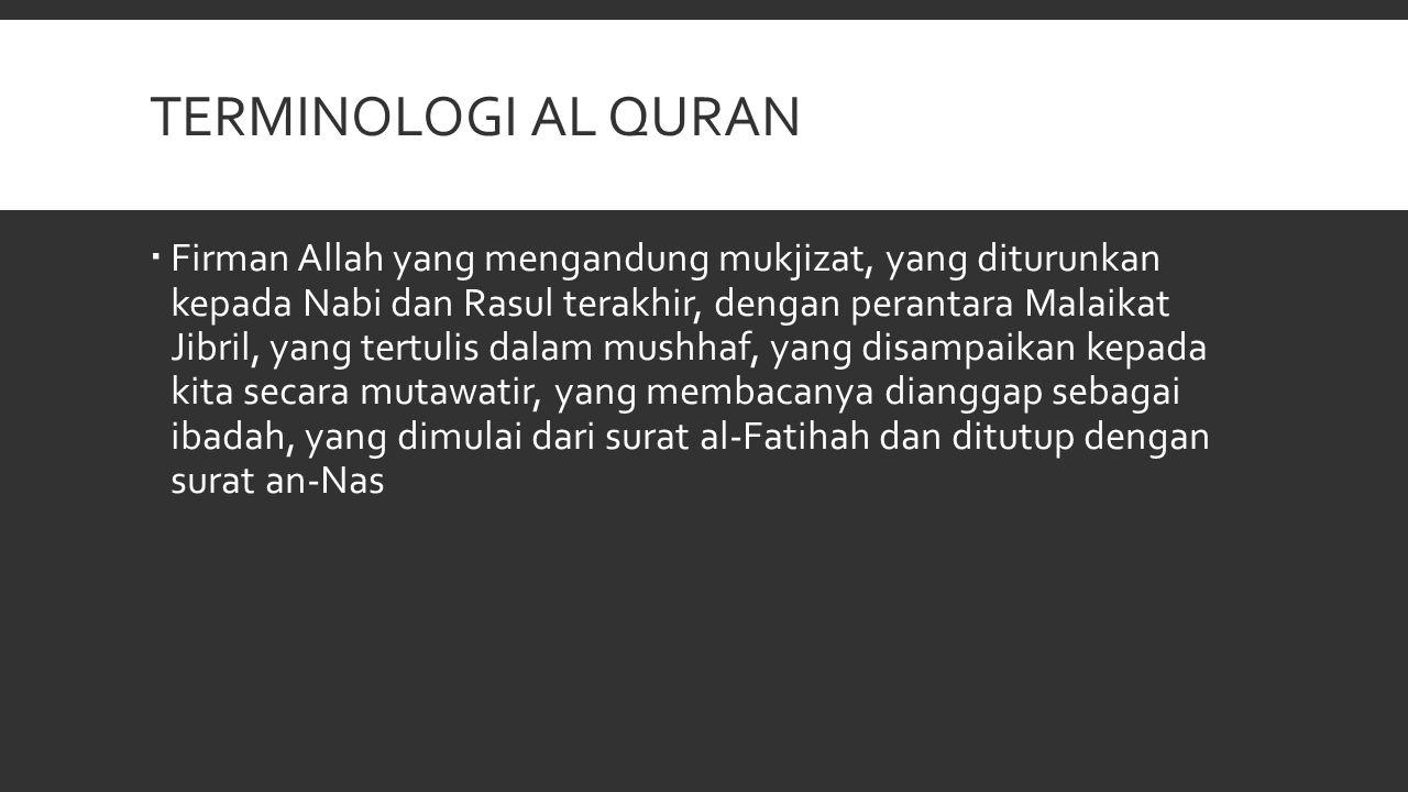 MANFAAT AL QURAN (1)  Bacalah al-Qur'an, sesungguhnya ia akan datang pada hari kiamat nanti memberi syafaat bagi orang yang membacanya (H.