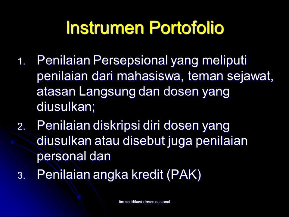 tim sertifikasi dosen nasional Instrumen Portofolio 1.
