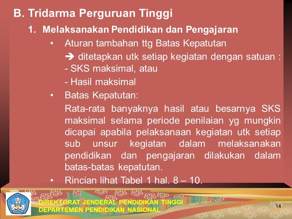 DIREKTORAT JENDERAL PENDIDIKAN TINGGI DEPARTEMEN PENDIDIKAN NASIONAL 14 B.