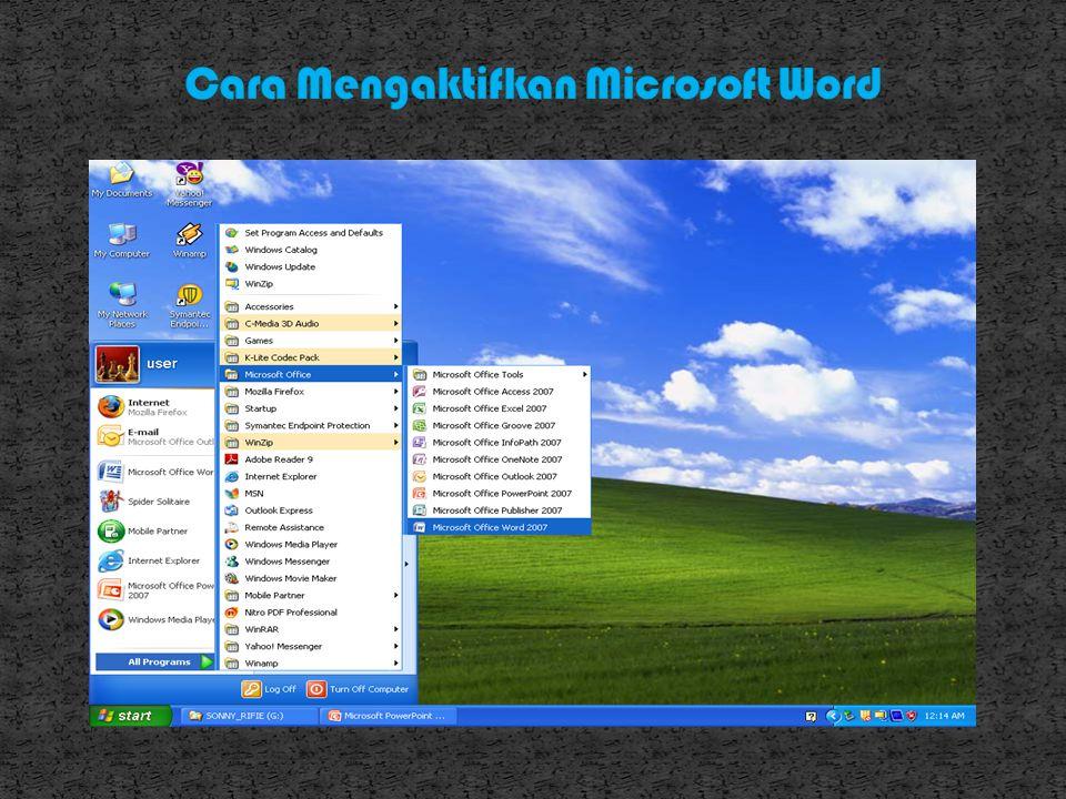 Word 2000 dapat dijalankan apabila sistem operasi windows telah diaktifkan.langkah-langkah memulai bekerja dengan word 2000 sbb: Aktifkan komputer ter