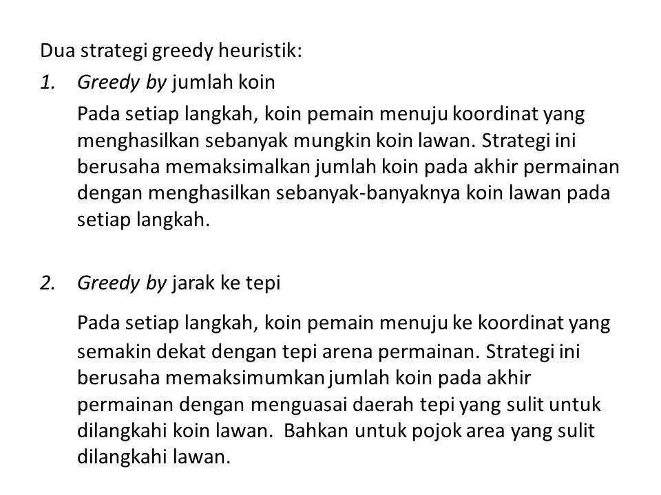 Greedy by Jumlah Koin 1.Himpunan kandidat Langkah-langkah yang menghasilkan jumlah koin yang diapit.