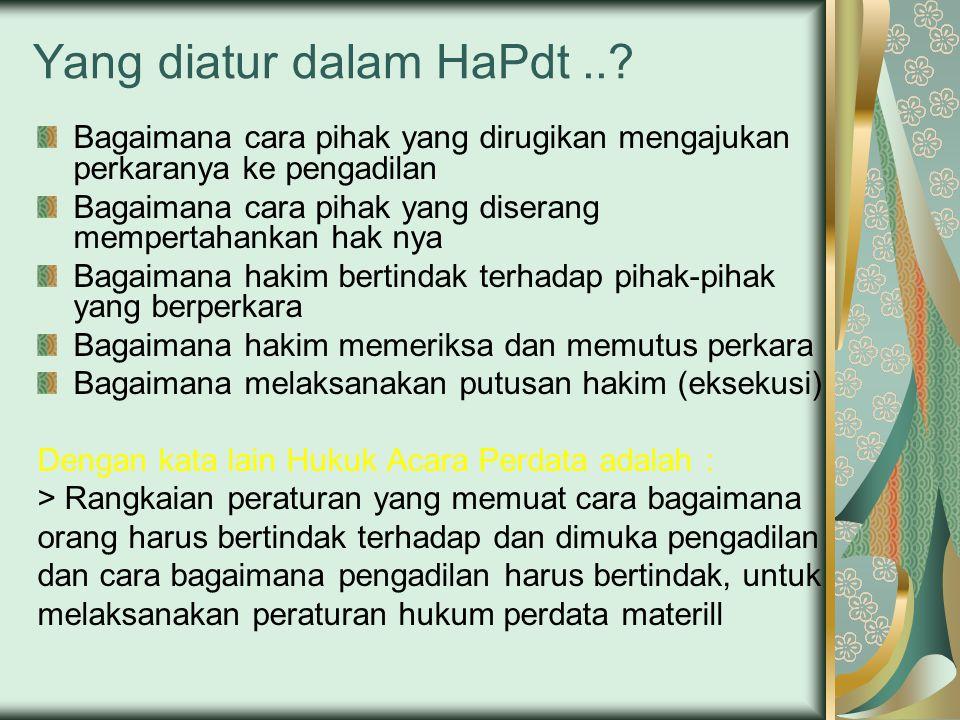 Yang diatur dalam HaPdt...