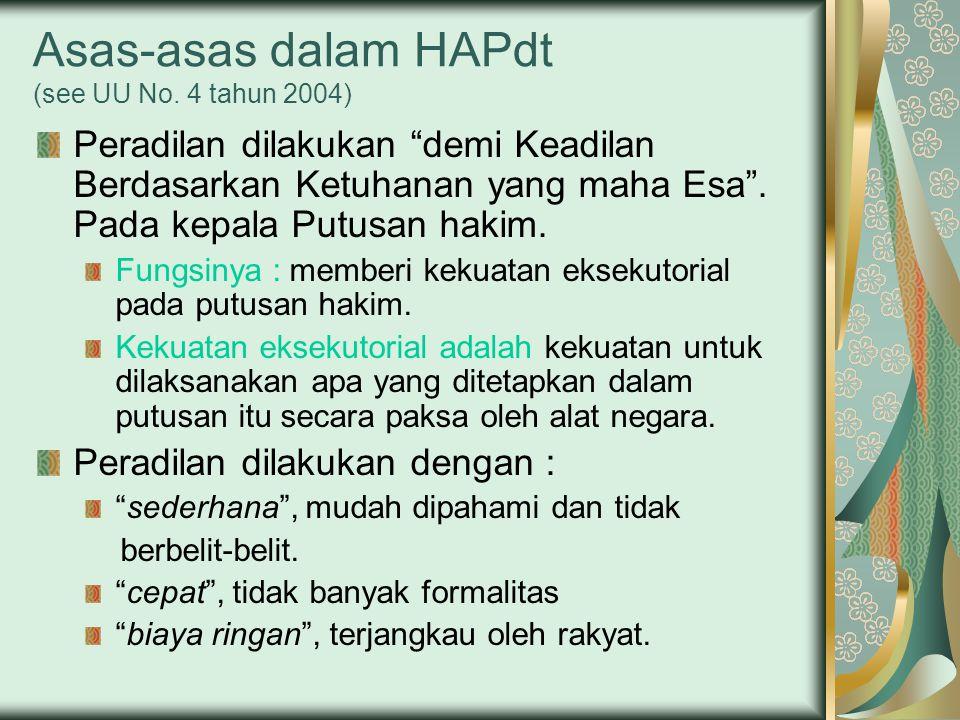 Asas-asas dalam HAPdt (see UU No.
