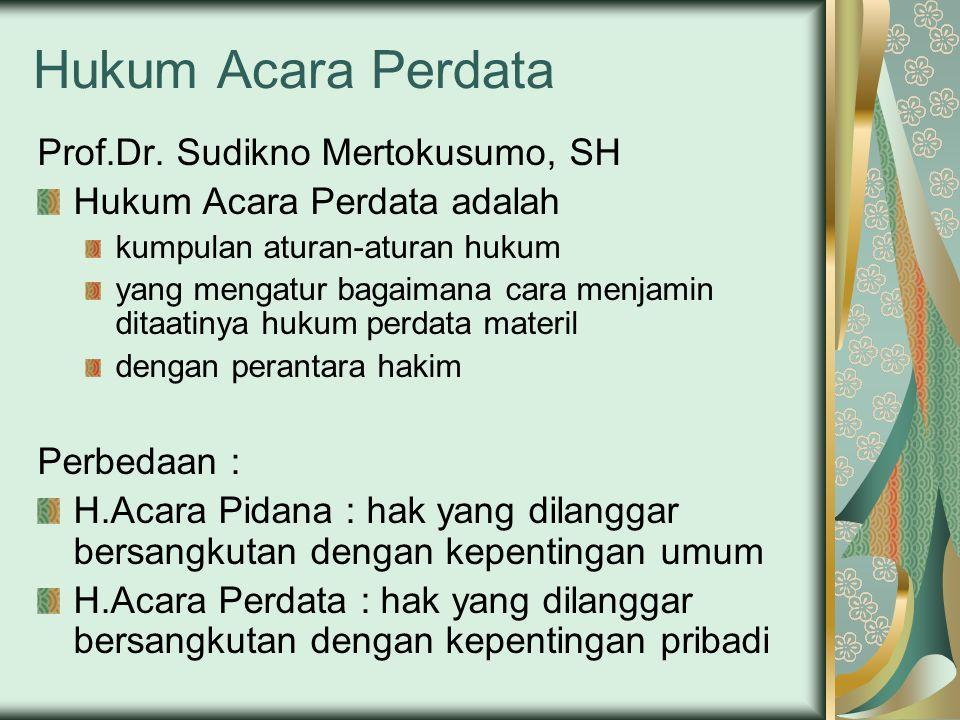 Hukum Acara Perdata Prof.Dr.
