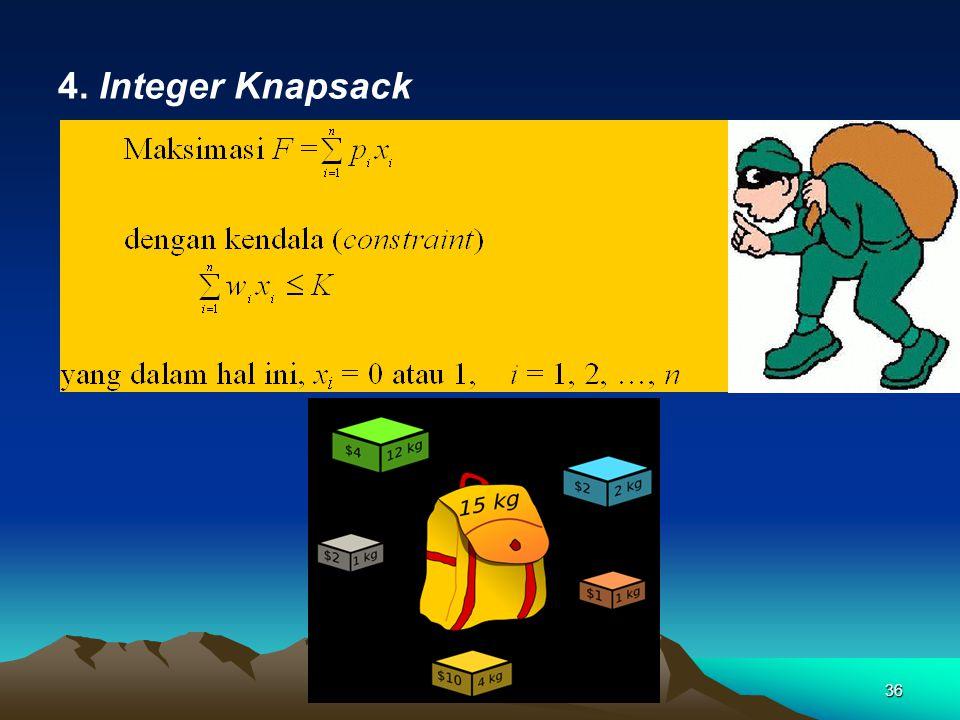 4. Integer Knapsack 36