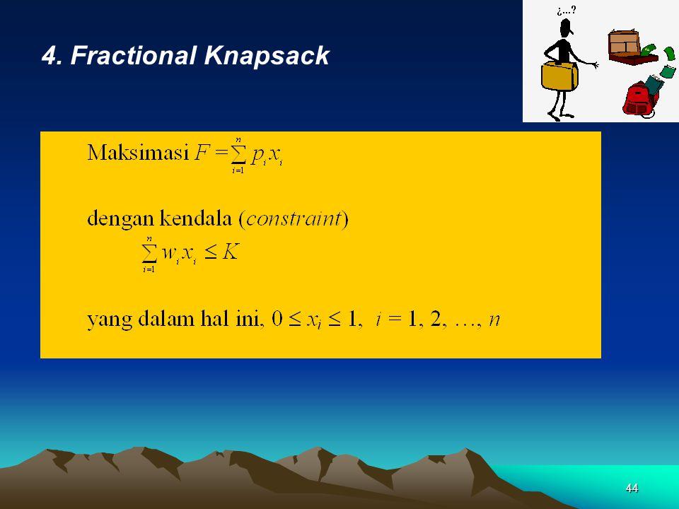 4. Fractional Knapsack 44