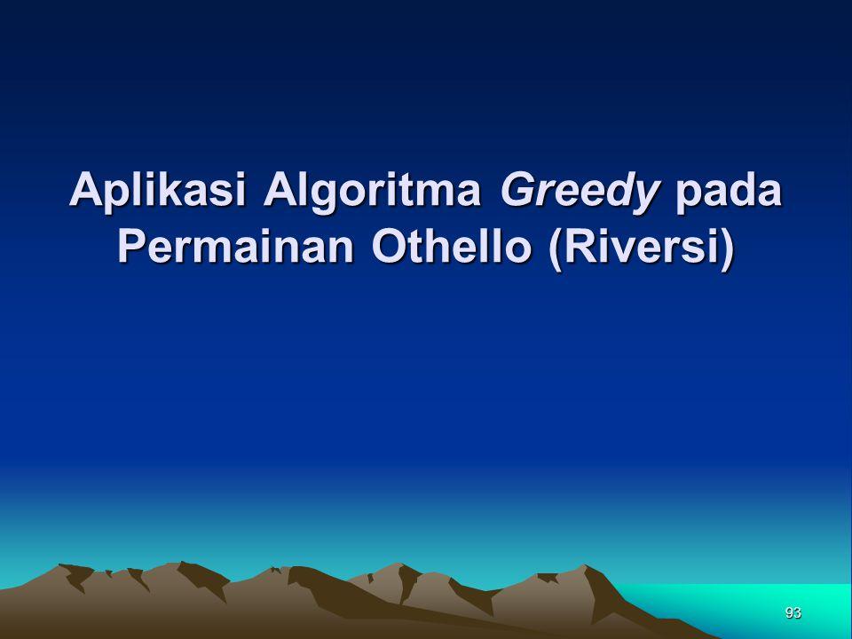Aplikasi Algoritma Greedy pada Permainan Othello (Riversi) 93