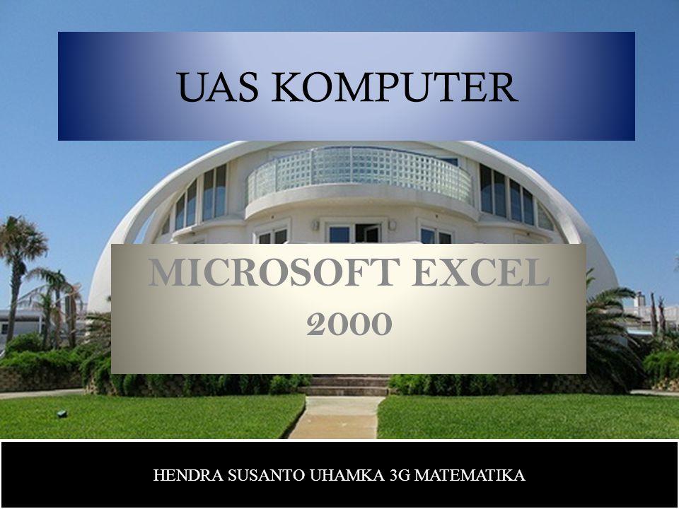 PENDAHULUAN Microsoft Excel (MS-Excel) merupakan program aplikasi spreadsheet (lembar kerja elektronik) canggih yang paling populer dan paling banyak digunakan saat ini.