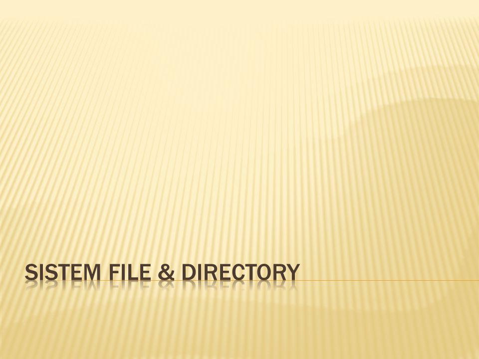  FILE file yang digunakan untuk menyimpan data, program, dokumen, grafik, dll.