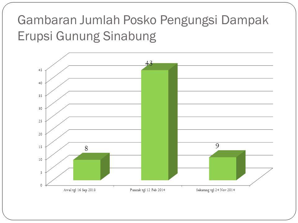 Gambaran Jumlah Posko Pengungsi Dampak Erupsi Gunung Sinabung