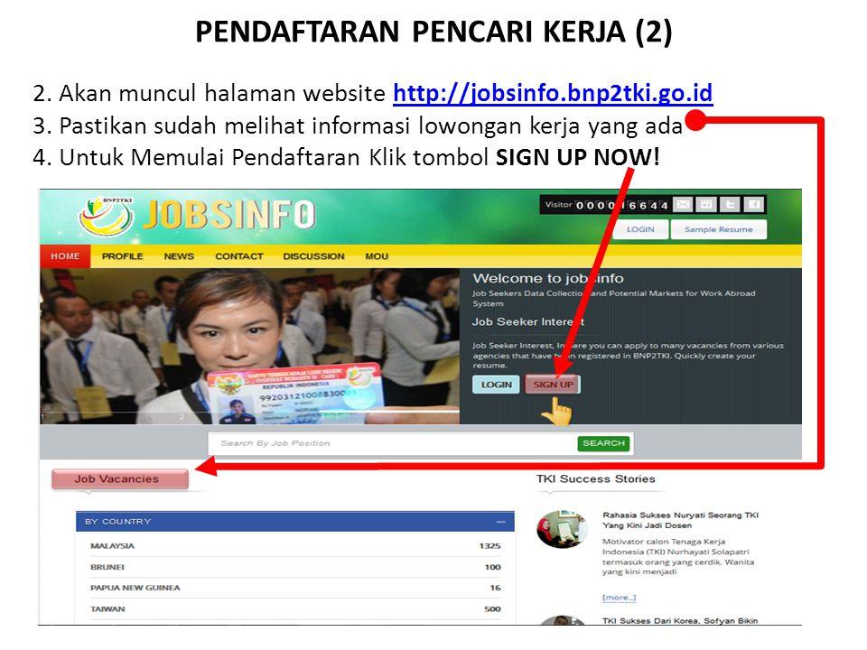PENDAFTARAN PENCARI KERJA (3) 5.Maka akan tampil halaman form registrasi SIPKLN yang terdiri dari tiga bagian kemudian pilih sebagai  Job Seeker.